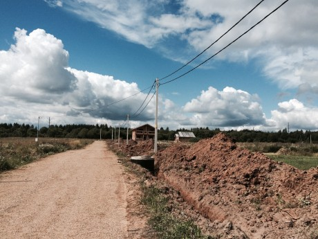 Завершилось строительство водо- и газопровода. Ноябрь 2015
